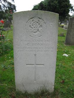 Lance Corporal G Hone