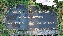 Winnie Lee <i>Fornash</i> Church