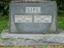 Annie E <i>Yeatts</i> Sipe