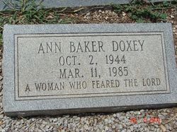 Martha Ann <i>Baker</i> Doxey