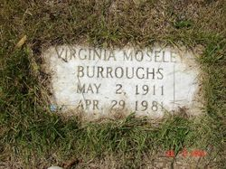 Virginia <i>Moseley</i> Burroughs