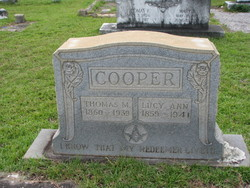 Lucy Ann <i>Curlee</i> Cooper