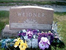 Mae Henrietta <i>Wheeler</i> Weidner