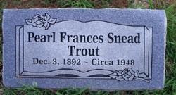 Pearl Frances <i>Snead</i> Trout