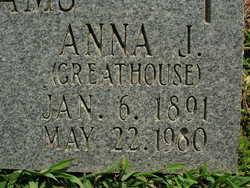 Anna J <i>Greathouse</i> Adams