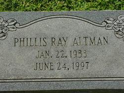 Phillis Ray Altman