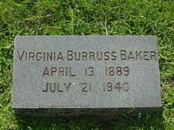 Virginia <i>Burruss</i> Baker