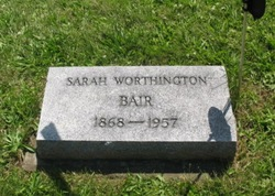 Sarah <i>Worthington</i> Bair