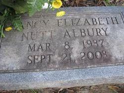 Nancy Elizabeth <i>Nutt</i> Albury