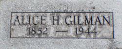 Alice H Gilman