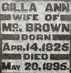 Gilla Ann <i>Raleigh</i> Brown