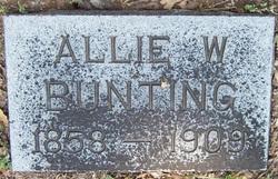 Alice William Allie <i>Hayden</i> Bunting