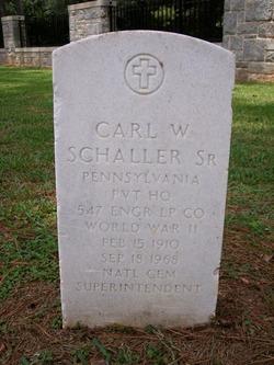 Carl W. Schaller, Sr