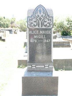 Alice Maud <i>Foster</i> McGill