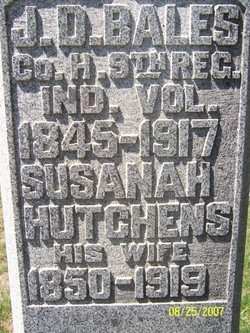 Susanah <i>Hutchens</i> Bales