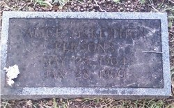 Alice Boyd <i>McKeithen</i> Persons