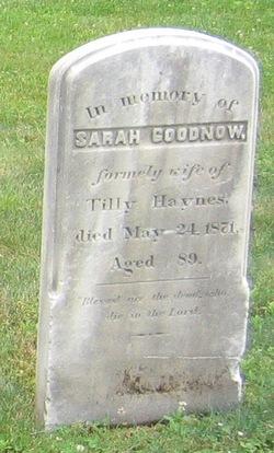 Sarah <i>Maynard</i> Goodenow