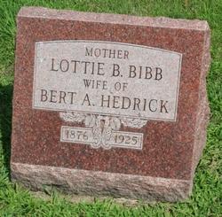 Lottie B. <i>Bibb</i> Hedrick