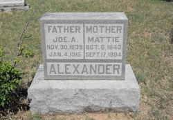 Martha Elizabeth Mattie <i>Massey</i> Alexander