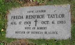 Freda <i>Renfroe</i> Taylor