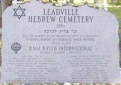 Hebrew Cemetery of Leadville