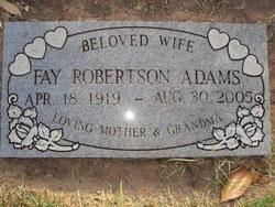 Agnes Fay <i>Robertson</i> Adams
