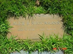 Alice <i>Buechenbacher</i> Hirschmann