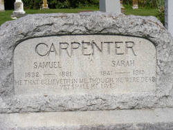 Sarah <i>Machlan</i> Carpenter