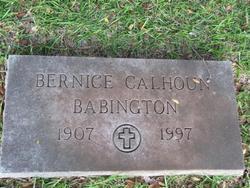 Bernice <i>Calhoun</i> Babington