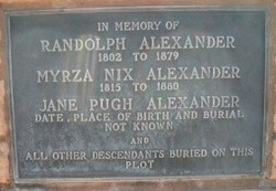 Jane <i>Pugh</i> Alexander