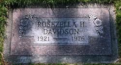 Rosezella <i>Hunsaker</i> Davidson