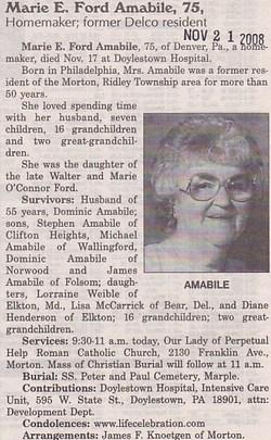 Marie E <i>Ford</i> Amabile