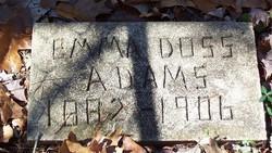 Emma <i>Doss</i> Adams