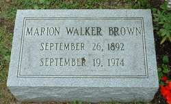 Marion <i>Walker</i> Brown