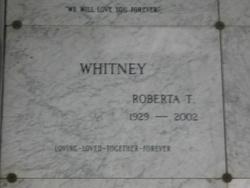 Roberta T Whitney