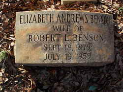 Elizabeth <i>Andrews</i> Benson