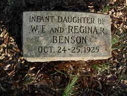 Infant Daughter Benson