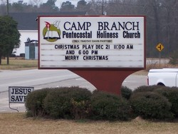 Camp Branch Pentecostal Holiness Church Cemetery
