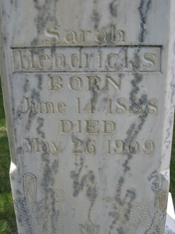 Sarah <i>Potts</i> Hendricks