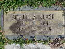 Mollie Z <i>DeLay</i> Dease