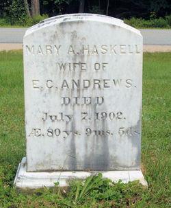 Mary A. <i>Haskell</i> Andrews