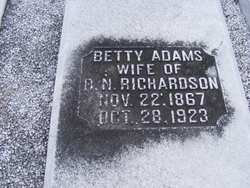 Betty <i>Adams</i> Richardson