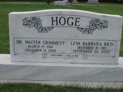 Leva Barbara <i>Rich</i> Hoge