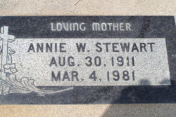 Annie McGee <i>Wilson</i> Stewart