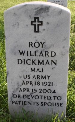 Dr Roy Willard Dickman