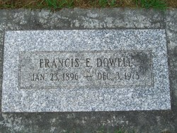 Francis Ernest Frank Dowell