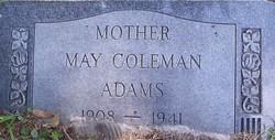May <i>Coleman</i> Adams
