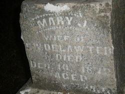 Mary J <i>McBean</i> Delawter