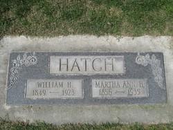 Martha Ann <i>Hancock</i> Hatch