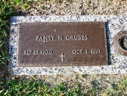 Pansy Lilly <i>Northern</i> Grubbs